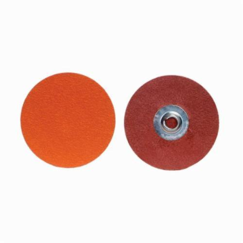 Norton® Blaze® 66261043424 R980P Conformable Coated Abrasive Quick-Change Disc, 3 in Dia, 120 Grit, Medium Grade, Ceramic Alumina Abrasive, Type TS (Type II) Attachment