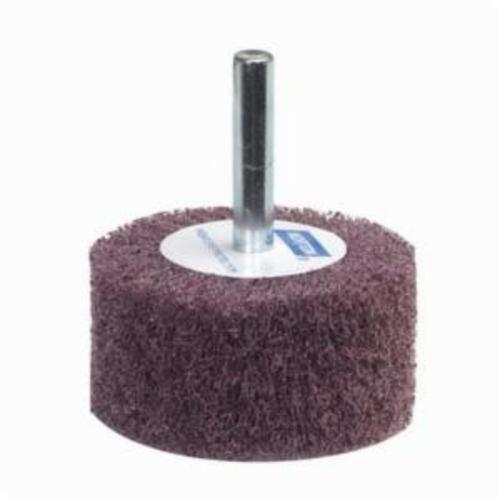 Norton® Bear-Tex® 66261051719 Spindle Mounted Non-Woven Flap Wheel, 3 in Dia Wheel, 1 in W Face, 1/4 in Dia Shank, 240 Grit, Very Fine Grade, Aluminum Oxide Abrasive