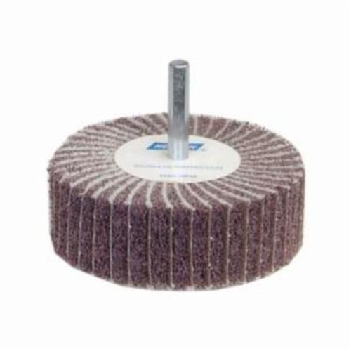 Norton® Bear-Tex® 66261051722 Spindle Mounted Non-Woven Flap Wheel, 2 in Dia Wheel, 1 in W Face, 1/4 in Dia Shank, 120 Grit, Medium Grade, Aluminum Oxide Abrasive