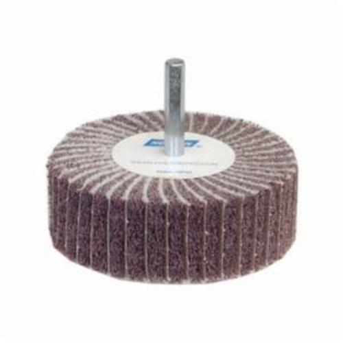 Norton® Bear-Tex® 66261051725 Spindle Mounted Non-Woven Flap Wheel, 3 in Dia Wheel, 1 in W Face, 1/4 in Dia Shank, 120 Grit, Medium Grade, Aluminum Oxide Abrasive