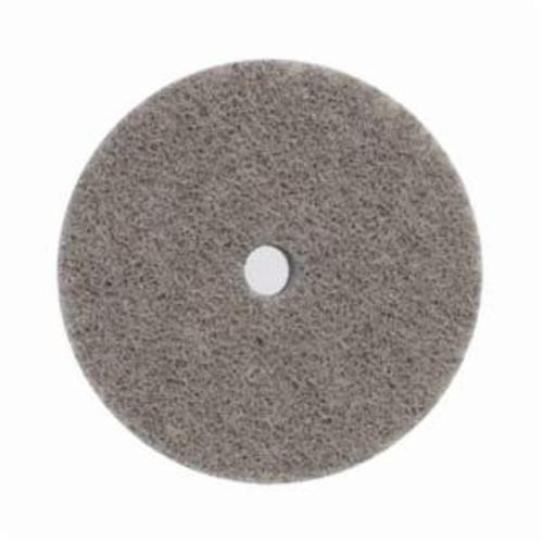 Norton® Bear-Tex® Rapid Blend™ 66261054046 Non-Woven Unified Wheel, 3 in Dia, 1/4 in Center Hole, 1/2 in W Face, Fine Grade, Aluminum Oxide Abrasive