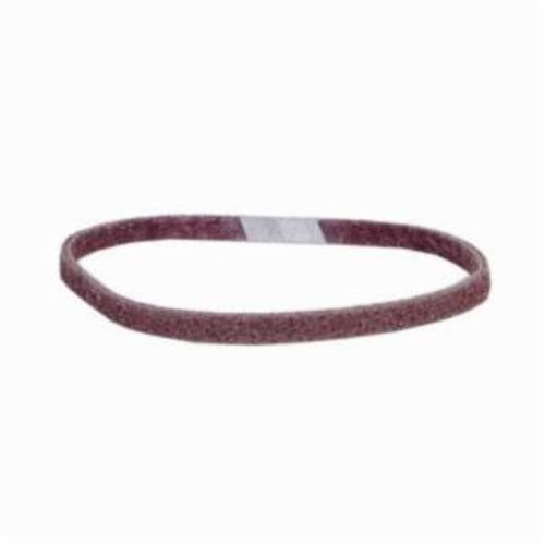 Norton® Bear-Tex® Rapid Prep™ 66261055310 Low Stretch Surface Conditioning Xtra Flexible Non-Woven Abrasive Belt, 1/2 in W x 18 in L, Medium Grade, Aluminum Oxide Abrasive, Maroon