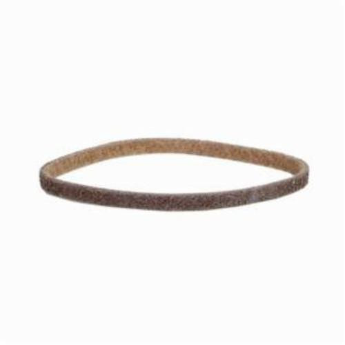 Norton® Bear-Tex® Rapid Prep™ 66261055312 Low Stretch Surface Conditioning Xtra Flexible Non-Woven Abrasive Belt, 1/2 in W x 24 in L, Coarse Grade, Aluminum Oxide Abrasive, Brown