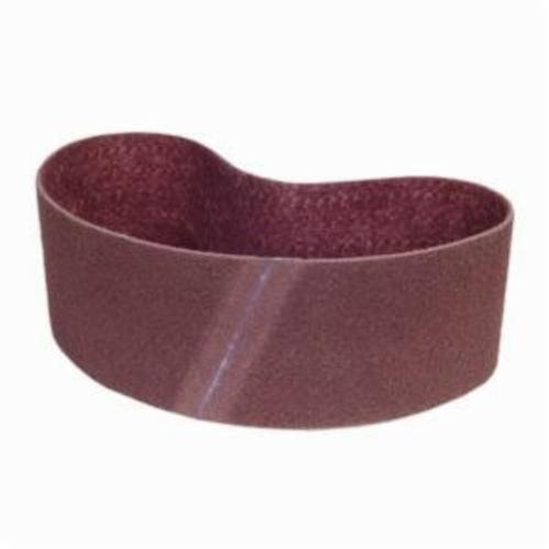 Norton® Bear-Tex® Rapid Prep™ 66261055331 Benchstand Flex Low Stretch Narrow Regular Surface Conditioning Non-Woven Abrasive Belt, 6 in W x 48 in L, Medium Grade, Aluminum Oxide Abrasive, Maroon