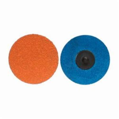 Norton® Blaze® 66261058706 F980 Heavy Duty Quick-Change Coated Abrasive Disc, 2 in Dia, 1/4 in Center Hole, 60 Grit, Coarse Grade, Premium Ceramic Alumina Abrasive, Type TR (Type III) Attachment