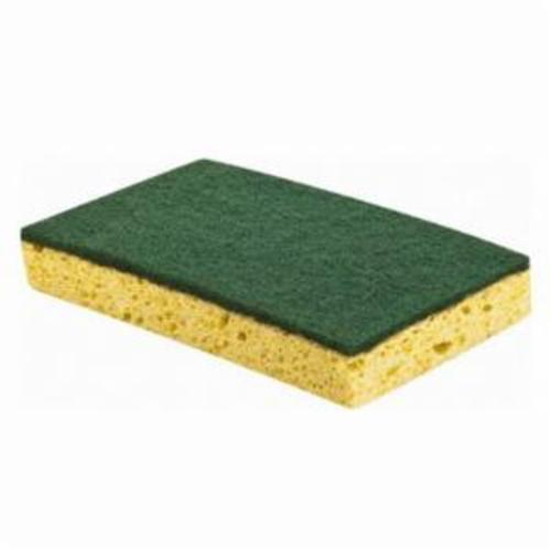 Norton® 66261059403 893 Scour-N-Sponge Scour-N-Sponge Pad, 6-1/4 in L, 3-1/4 in W W/Dia, 3/4 in THK, Very Fine Grade, Aluminum Oxide Abrasive
