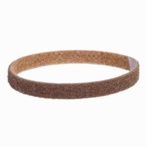 Norton® Bear-Tex® Rapid Prep™ 66261083899 Low Stretch Surface Conditioning Xtra Flexible Non-Woven Abrasive Belt, 3/4 in W x 20-1/2 in L, Coarse Grade, Aluminum Oxide Abrasive, Brown