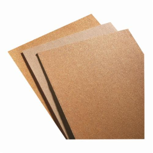 Norton® No-Fil® 66623311879 PB273 Coated Sandpaper Sheet, 11 in L x 9 in W, P240 Grit, Very Fine Grade, Aluminum Oxide Abrasive, Paper Backing