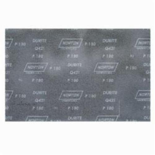 Norton® Durite® 66261100935 Q421 Coated Sanding Sheet, 11 in L x 9 in W, P220 Grit, Very Fine Grade, Silicon Carbide Abrasive, Screen-Bak™ Backing