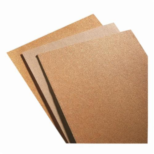 Norton® 66261101488 A511 Coated Sandpaper Sheet, 11 in L x 9 in W, 220 Grit, Very Fine Grade, Garnet Abrasive, Paper Backing