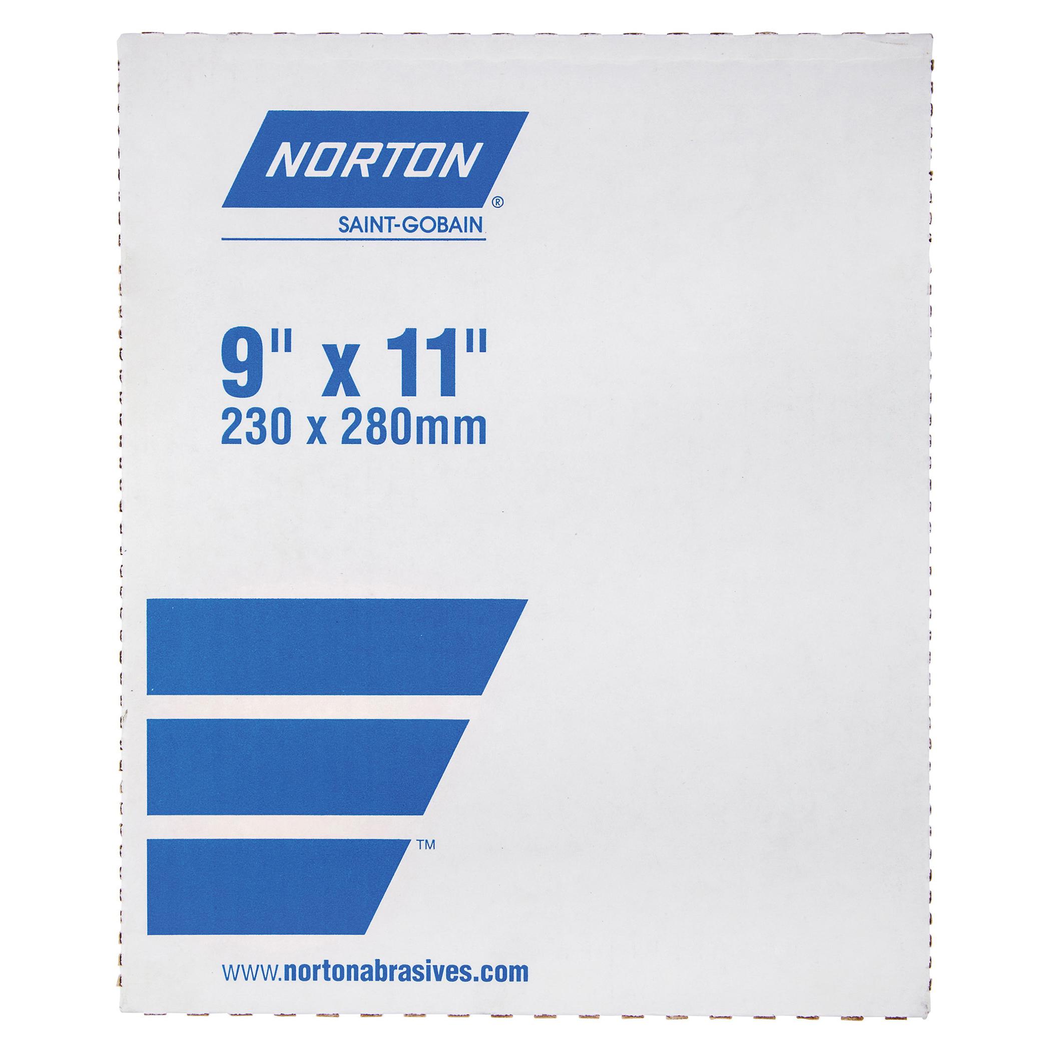 Norton® 66261101525 A513 Coated Sandpaper Sheet, 11 in L x 9 in W, 150 Grit, Fine Grade, Garnet Abrasive, Paper Backing