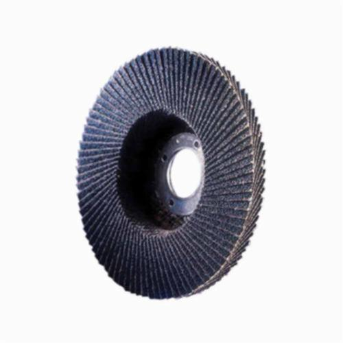 Norton® Charger™ 66261121288 R822 Arbor Thread Standard Density Versatile Coated Abrasive Flap Disc, 4-1/2 in Dia, P60 Grit, Coarse Grade, Zirconia Alumina Abrasive, Type 29/Conical Disc