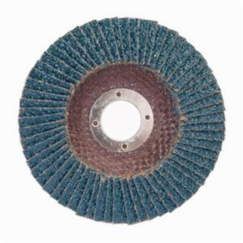 Norton® Charger™ 66261119274 R822 Center Mount Coated Abrasive Flap Disc, 5 in Dia, 7/8 in Center Hole, P60 Grit, Coarse Grade, Zirconia Alumina Abrasive, Type 29/Conical Disc