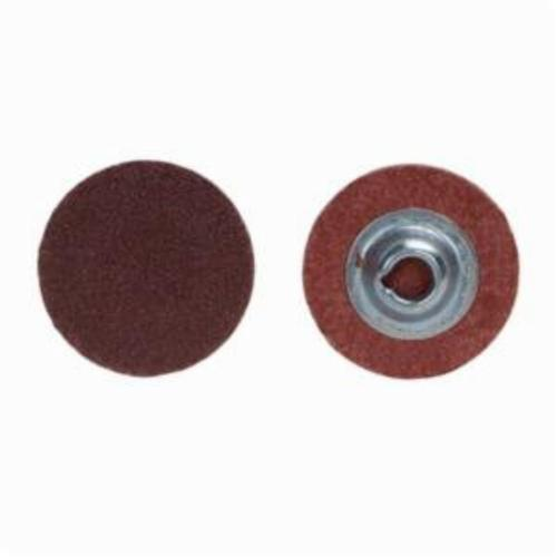 Norton® Metalite® 66261121029 R228 Coated Abrasive Quick-Change Disc, 3 in Dia, 24 Grit, Extra Coarse Grade, Aluminum Oxide Abrasive, Type TR (Type III) Attachment