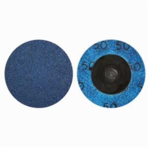Norton® BlueFire® 66261121041 R884P Coated Abrasive Quick-Change Disc, 1-1/2 in Dia, 36 Grit, Extra Coarse Grade, Zirconia Alumina Abrasive, Type TR (Type III) Attachment