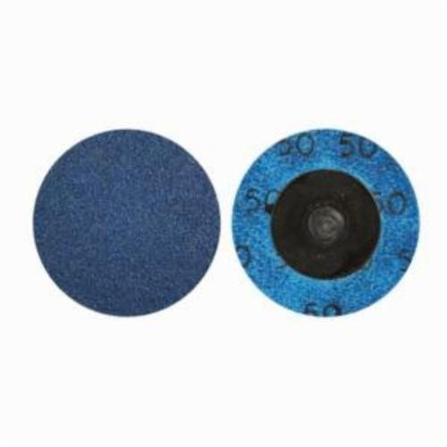 Norton® BlueFire® 66261121043 R884P Coated Abrasive Quick-Change Disc, 1-1/2 in Dia, 60 Grit, Coarse Grade, Zirconia Alumina Abrasive, Type TR (Type III) Attachment