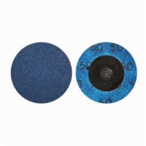 Norton® BlueFire® 66261121044 R884P Coated Abrasive Quick-Change Disc, 1-1/2 in Dia, 80 Grit, Coarse Grade, Zirconia Alumina Abrasive, Type TR (Type III) Attachment