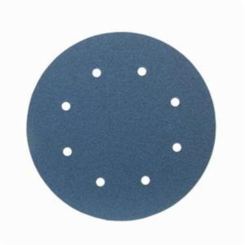 Norton® BlueFire® 66261123598 H875P Open Coated Abrasive Hook and Loop Disc, 8 in Dia, 36 Grit, Extra Coarse Grade, Zirconia Alumina Abrasive, Paper Backing