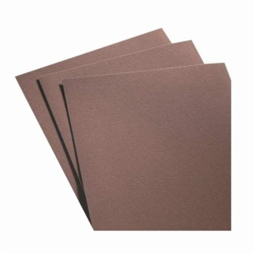 Norton® Metalite® 66261126340 K225 Coated Abrasive Sheet, 11 in L x 9 in W, P80 Grit, Coarse Grade, Aluminum Oxide Abrasive, Cotton Backing