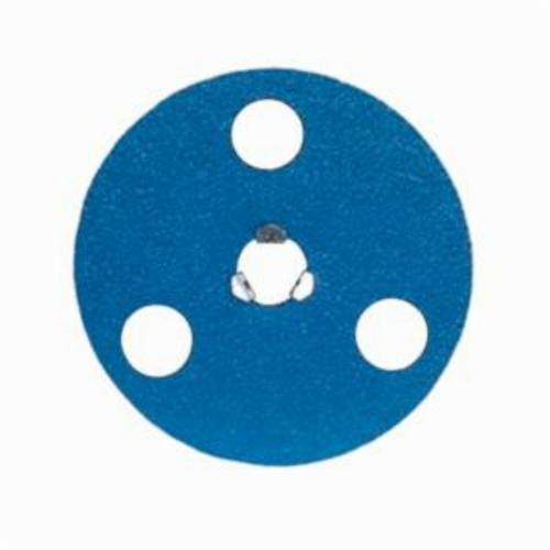 Norton® AVOS® BlueFire® Speed-Lok® 66261126560 F826P Heavy Duty Coated Abrasive Disc, 5 in Dia Disc, 80 Grit, Medium Grade, Zirconia Alumina Abrasive, Speed-Lok Fastener Attachment