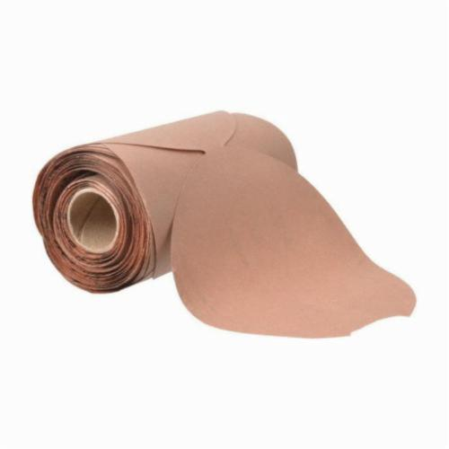 Norton®Adalox® 66261127465 A270 PSA Coated Abrasive Disc Roll, 5 in Dia Disc, P320 Grit, Extra Fine Grade, Aluminum Oxide Abrasive, Paper Backing
