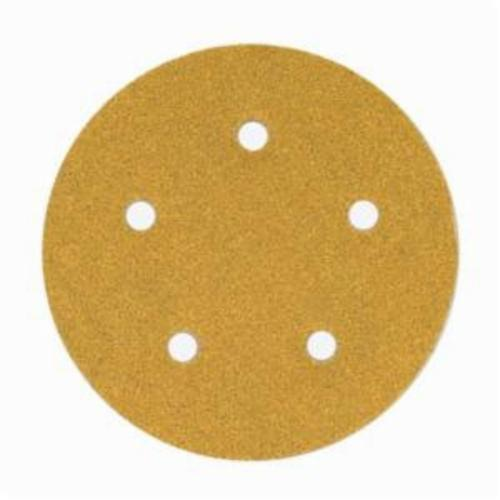 Norton® No-Fil® Adalox® 66261130226 A290 Hook and Loop Disc, 5 in Dia, P400 Grit, Super Fine Grade, Aluminum Oxide Abrasive, Latex Paper Backing