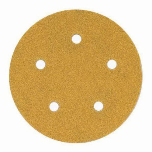 Norton® No-Fil® Adalox® 66261130230 A290 Hook and Loop Disc, 5 in Dia, P220 Grit, Very Fine Grade, Aluminum Oxide Abrasive, Latex Paper Backing