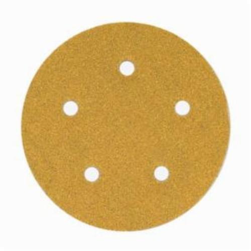 Norton® No-Fil® Adalox® 66261130234 A290 Hook and Loop Disc, 5 in Dia, P100 Grit, Medium Grade, Aluminum Oxide Abrasive, Latex Paper Backing