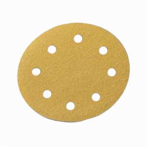 Norton® No-Fil® Adalox® 66261130240 A290 Hook and Loop Disc, 5 in Dia, P180 Grit, Fine Grade, Aluminum Oxide Abrasive, Latex Paper Backing
