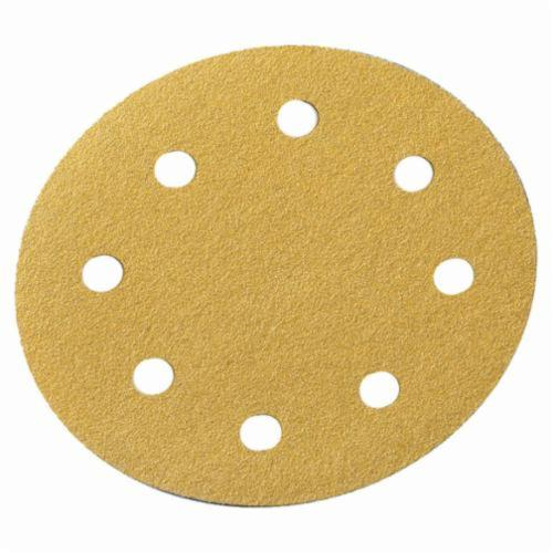 Norton® No-Fil® Adalox® 66261130245 A290 Hook and Loop Disc, 5 in Dia, P60 Grit, Coarse Grade, Aluminum Oxide Abrasive, Latex Paper Backing