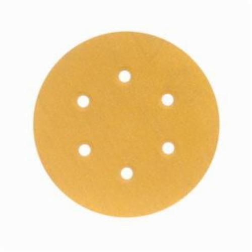 Norton® No-Fil® Adalox® 66261130253 A290 Hook and Loop Disc, 6 in Dia, P120 Grit, Medium Grade, Aluminum Oxide Abrasive, Latex Paper Backing
