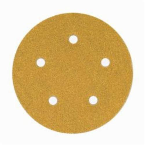 Norton® No-Fil® Adalox® 66261130255 A290 Hook and Loop Disc, 6 in Dia, P80 Grit, Coarse Grade, Aluminum Oxide Abrasive, Latex Paper Backing
