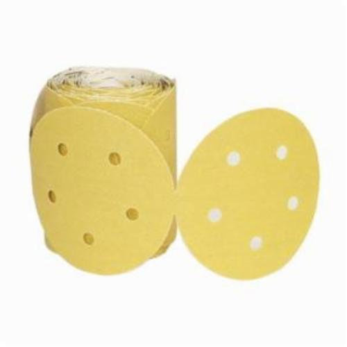 Norton®Adalox®No-Fil® 66261130259 A290 PSA Coated Abrasive Disc Roll, 5 in Dia Disc, P240 Grit, Very Fine Grade, Aluminum Oxide Abrasive, Paper Backing