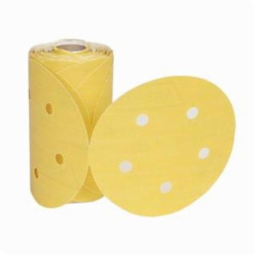 Norton®Adalox®No-Fil® 66261130260 A290 PSA Coated Abrasive Disc Roll, 5 in Dia Disc, P220 Grit, Very Fine Grade, Aluminum Oxide Abrasive, Paper Backing