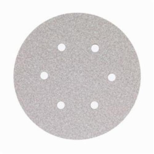 Norton® No-Fil® Adalox® 66261131586 A275OP Hook and Loop Disc, 6 in Dia, P1000 Grit, Ultra Fine Grade, Aluminum Oxide Abrasive, Latex Paper Backing