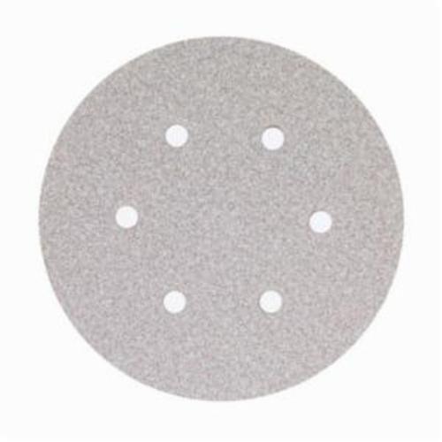 Norton® No-Fil® Adalox® 66261131587 A275OP Hook and Loop Disc, 6 in Dia, P800 Grit, Ultra Fine Grade, Aluminum Oxide Abrasive, Latex Paper Backing
