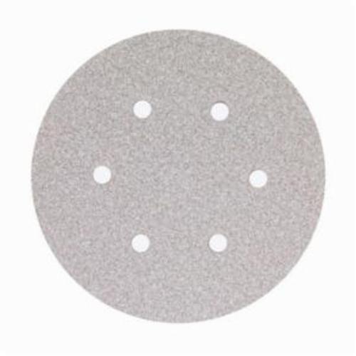 Norton® No-Fil® Adalox® 66261131600 A275 Hook and Loop Disc, 6 in Dia, P80 Grit, Medium Grade, Aluminum Oxide Abrasive, Latex Paper Backing