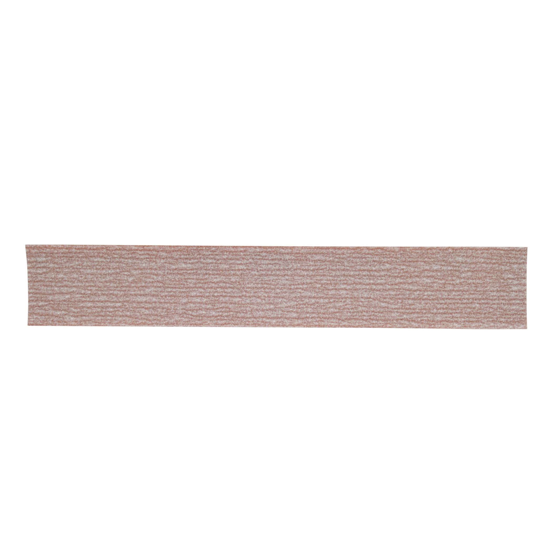 Norton® 66261131636 A275OP PSA Coated File Strip, 16-1/2 in L x 2-3/4 in W, P180 Grit, Fine Grade, Aluminum Oxide Abrasive, Anti-Loading Paper Backing