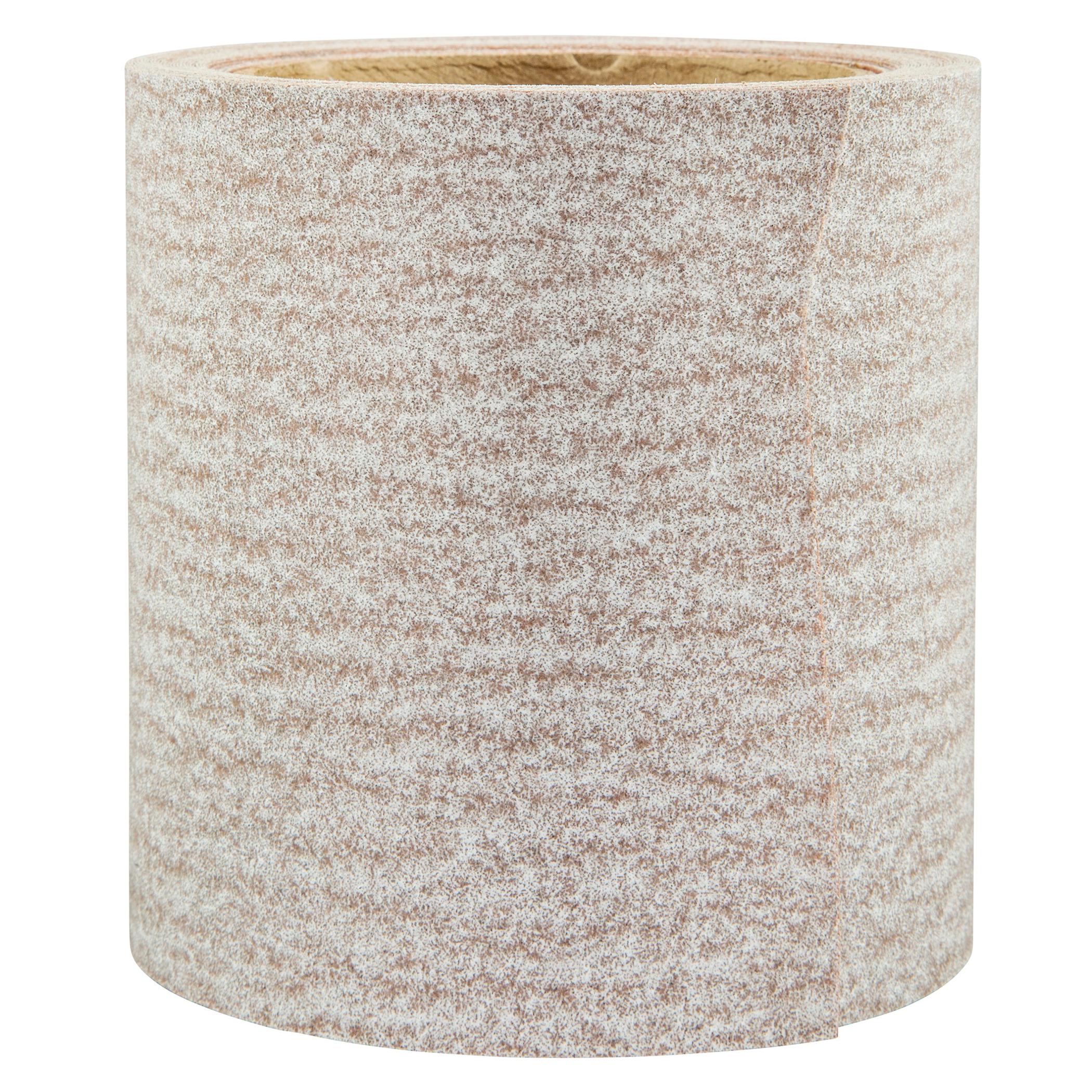 Norton® 66261131695 OP A275 Coated Abrasive Roll, 10 yd L x 4-1/2 in W, 120 Grit, Medium Grade, Aluminum Oxide Abrasive, Anti-Loading Paper Backing