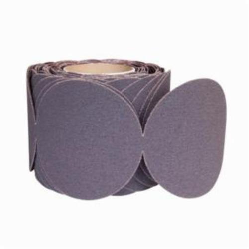 Norton® Metalite® 66261133254 R228 PSA Coated Abrasive Disc Roll, 5 in Dia Disc, 80 Grit, Coarse Grade, Aluminum Oxide Abrasive, Cloth Backing