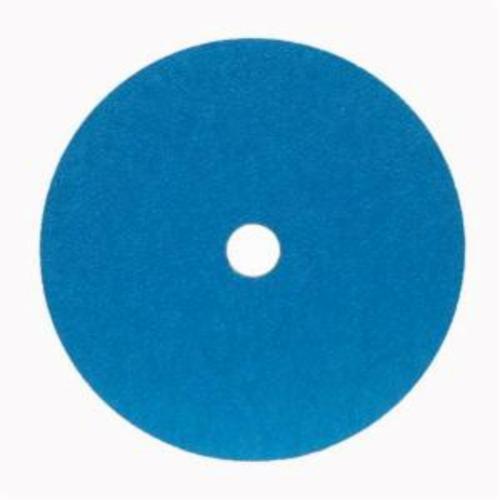 Norton® BlueFire® 66261138584 F826P Heavy Duty Coated Abrasive Disc, 9-1/8 in Dia, 7/8 in Center Hole, 24 Grit, Extra Coarse Grade, Zirconia Alumina Abrasive, Center Mount Attachment