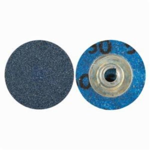 Norton® BlueFire® 66261138607 R884P Coated Abrasive Quick-Change Disc, 1 in Dia, 80 Grit, Coarse Grade, Zirconia Alumina Abrasive, Type TS (Type II) Attachment