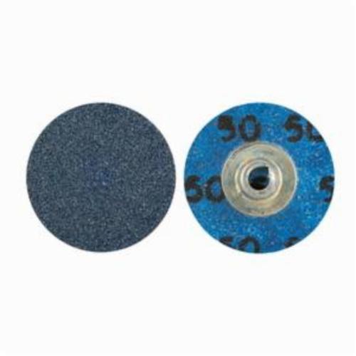 Norton® BlueFire® 66261138620 R884P Coated Abrasive Quick-Change Disc, 1-1/2 in Dia, 80 Grit, Coarse Grade, Zirconia Alumina Abrasive, Type TS (Type II) Attachment