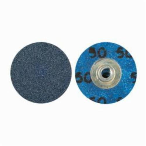 Norton® BlueFire® 66261138621 R884P Coated Abrasive Quick-Change Disc, 1-1/2 in Dia, 60 Grit, Coarse Grade, Zirconia Alumina Abrasive, Type TS (Type II) Attachment