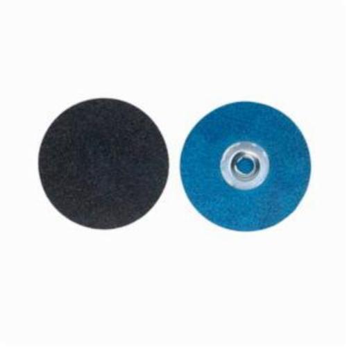 Norton® BlueFire® 66261138624 R884P Coated Abrasive Quick-Change Disc, 1-1/2 in Dia, 36 Grit, Extra Coarse Grade, Zirconia Alumina Abrasive, Type TS (Type II) Attachment