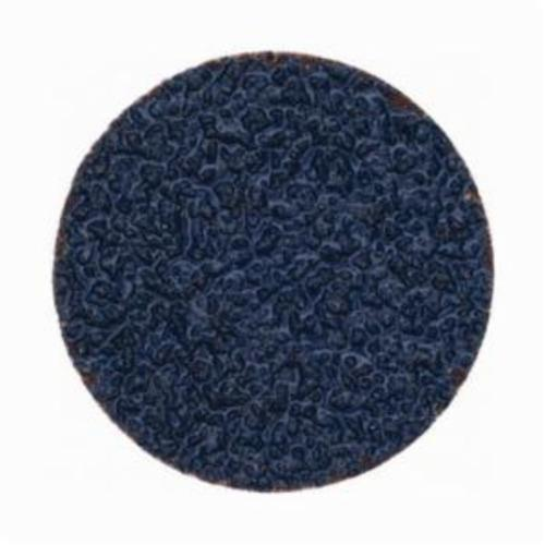 Norton® BlueFire® 66261138638 R884P Coated Abrasive Quick-Change Disc, 2 in Dia, 24 Grit, Extra Coarse Grade, Zirconia Alumina Abrasive, Type TS (Type II) Attachment