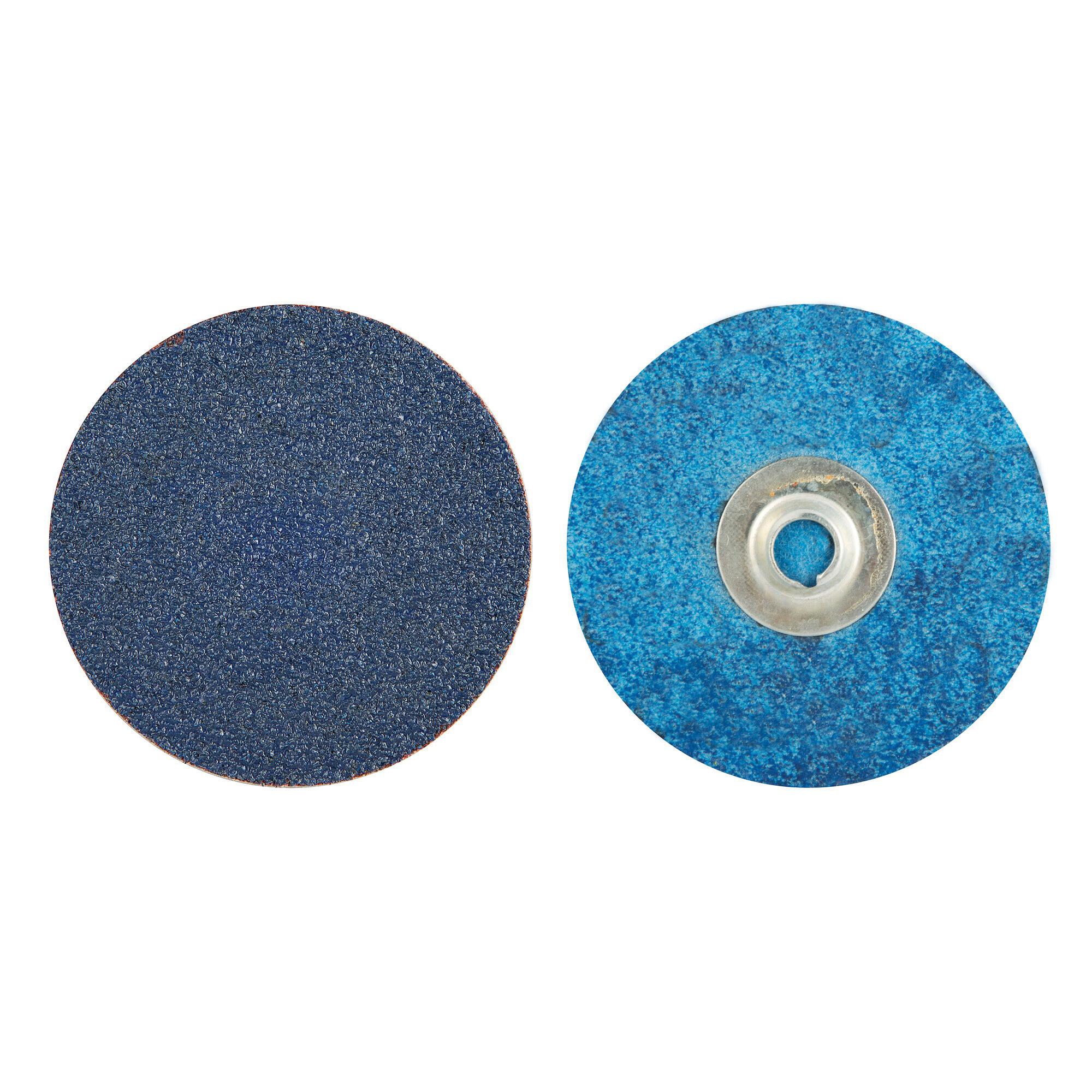 Norton® BlueFire® 66261138660 R884P Coated Abrasive Quick-Change Disc, 3 in Dia, 80 Grit, Coarse Grade, Zirconia Alumina Abrasive, Type TS (Type II) Attachment