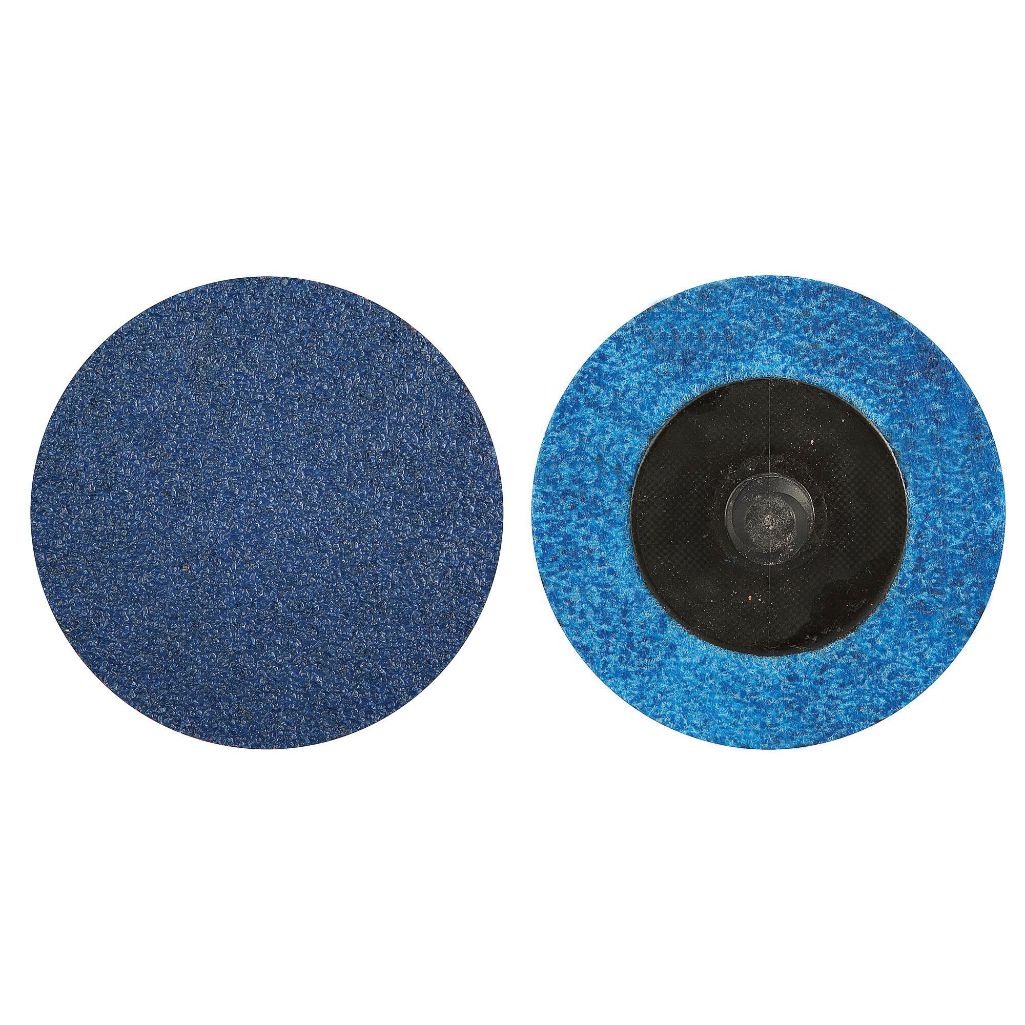 Norton® BlueFire® 66261138672 R884P Coated Abrasive Quick-Change Disc, 2 in Dia, 24 Grit, Extra Coarse Grade, Zirconia Alumina Abrasive, Type TR (Type III) Attachment