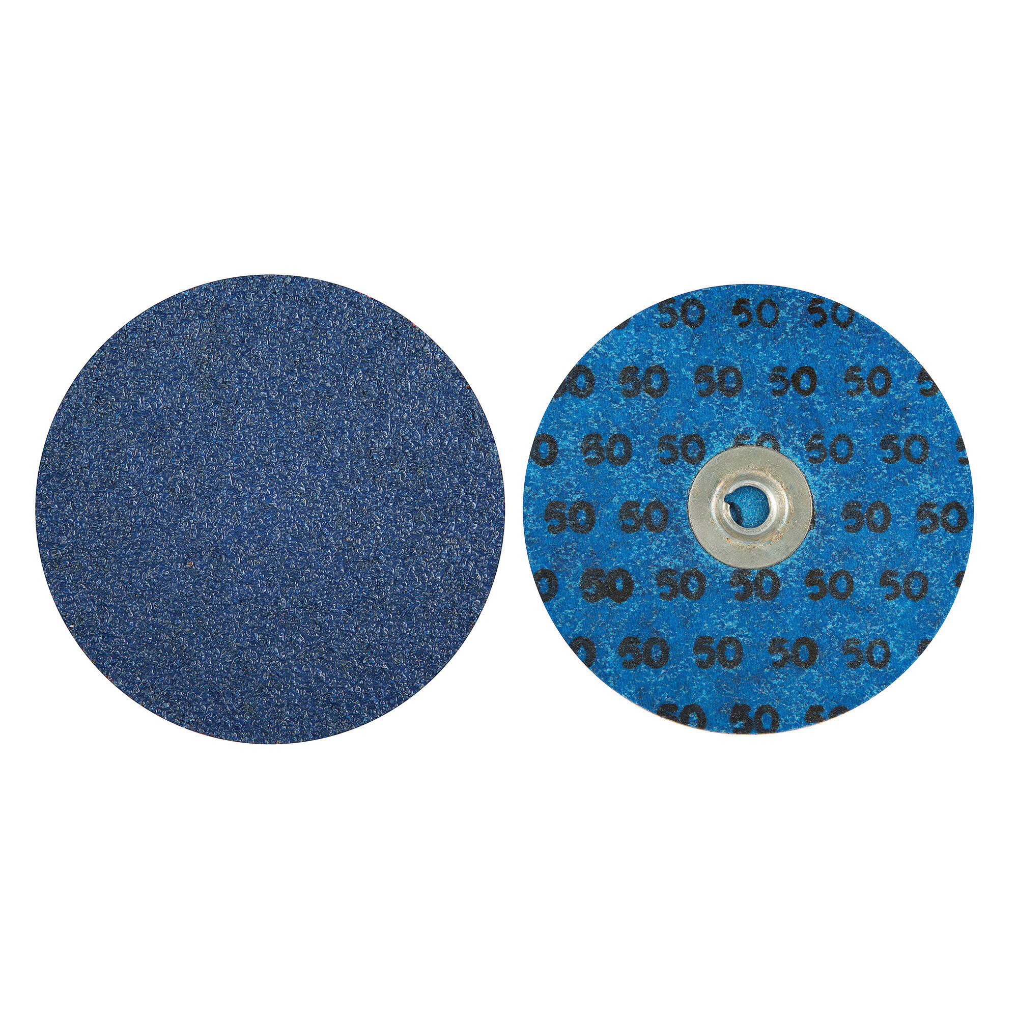 Norton® BlueFire® 66261138681 R884P Coated Abrasive Quick-Change Disc, 4 in Dia, 50 Grit, Coarse Grade, Zirconia Alumina Abrasive, Type TS (Type II) Attachment