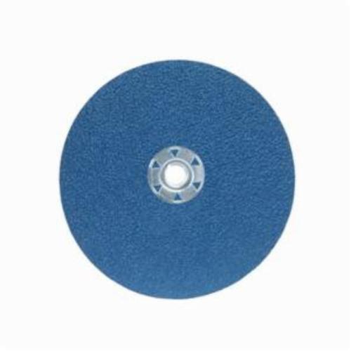 Norton® BlueFire® 66261138816 F826P Heavy Duty Coated Abrasive Disc, 7 in Dia, 5/8-11 Center Hole, 60 Grit, Medium Grade, Zirconia Alumina Abrasive, Speed Change Fastener Attachment